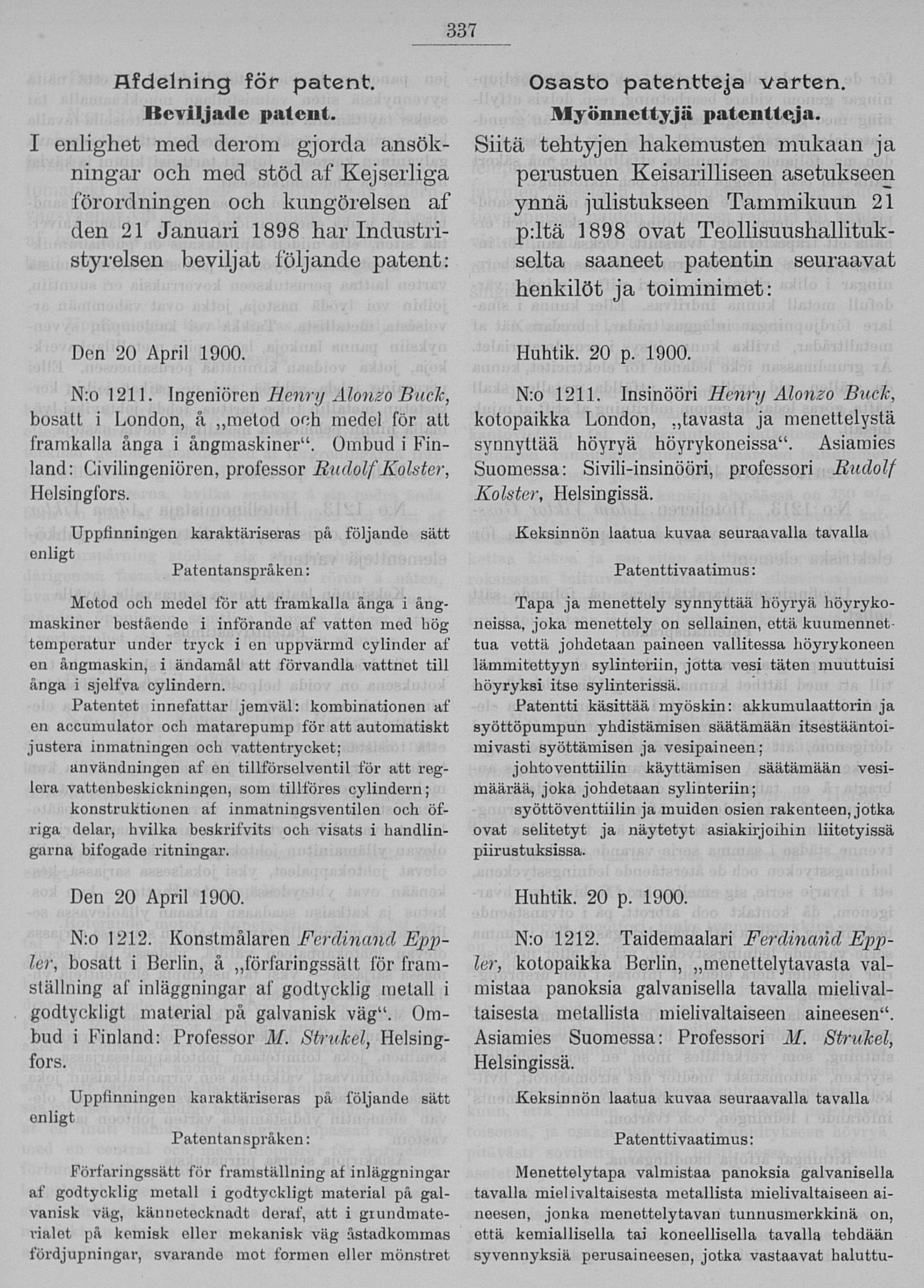 17.8.1900_Registeringstidning för varumärken no 152