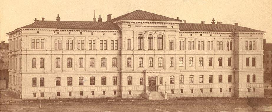 Polyteknillisen opiston rakennus Hietalahdentorilla, 1886. Aalto-yliopiston arkisto